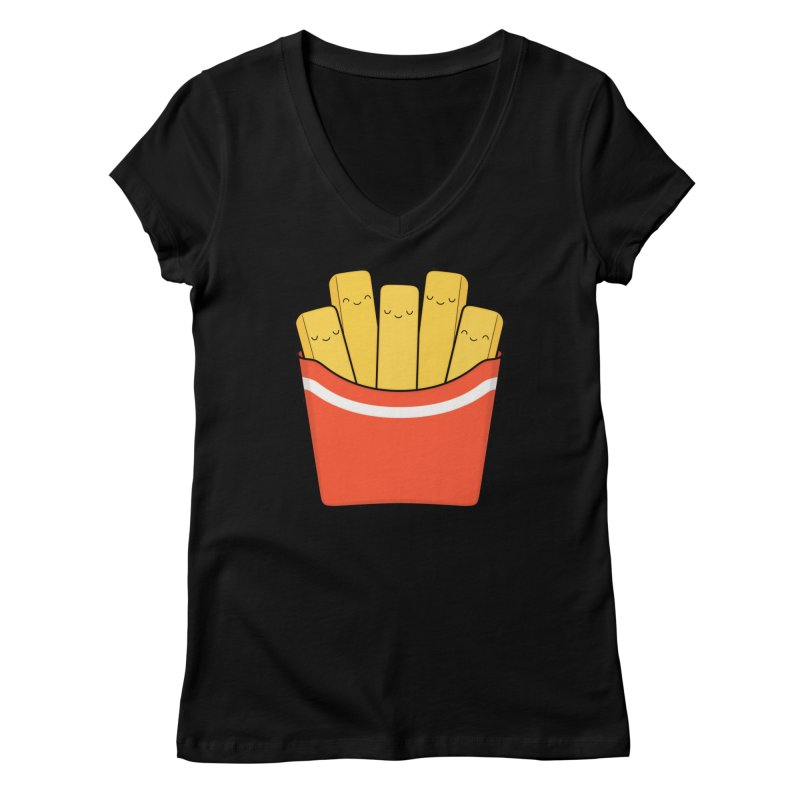Best Fries Women's V-Neck by Kim Vervuurt