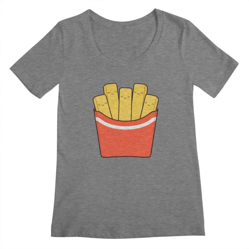 Best Fries Women's Scoopneck by Kim Vervuurt