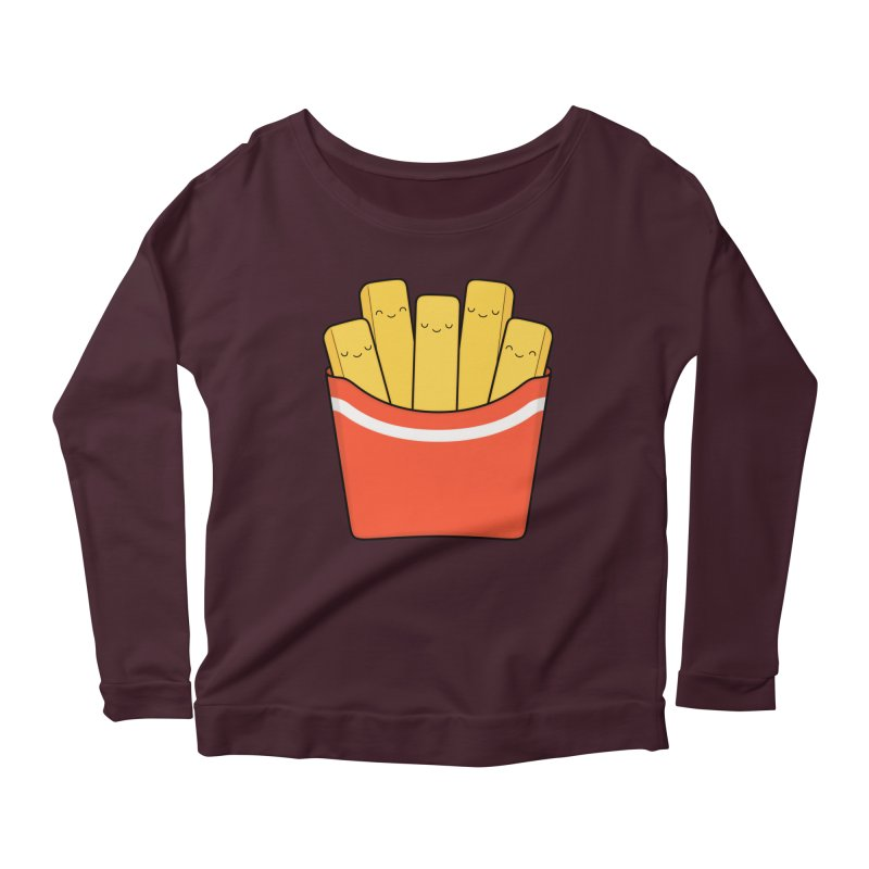 Best Fries Women's Scoop Neck Longsleeve T-Shirt by Kim Vervuurt