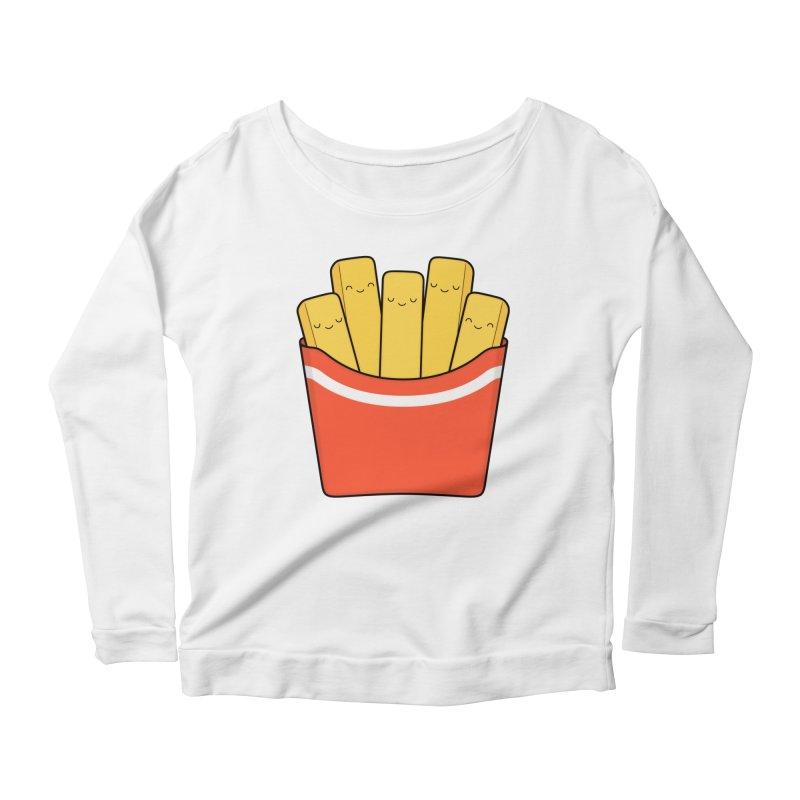 Best Fries Women's Scoop Neck Longsleeve T-Shirt by Kim Vervuurt