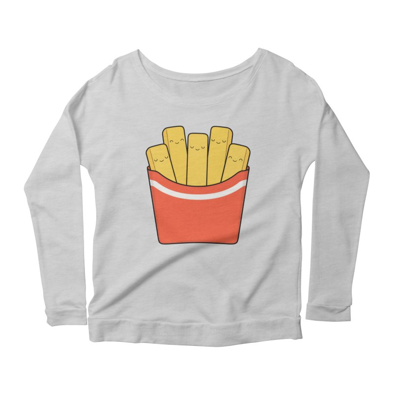 Best Fries Women's Longsleeve Scoopneck  by Kim Vervuurt