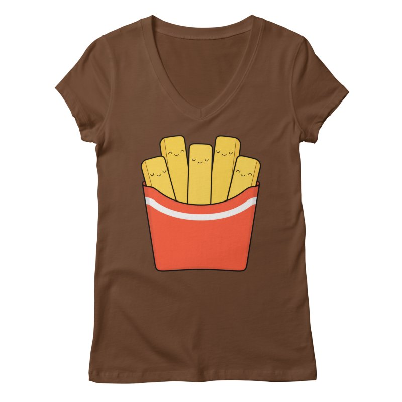 Best Fries Women's Regular V-Neck by Kim Vervuurt