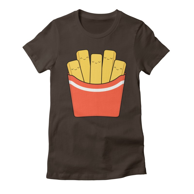 Best Fries Women's Fitted T-Shirt by Kim Vervuurt