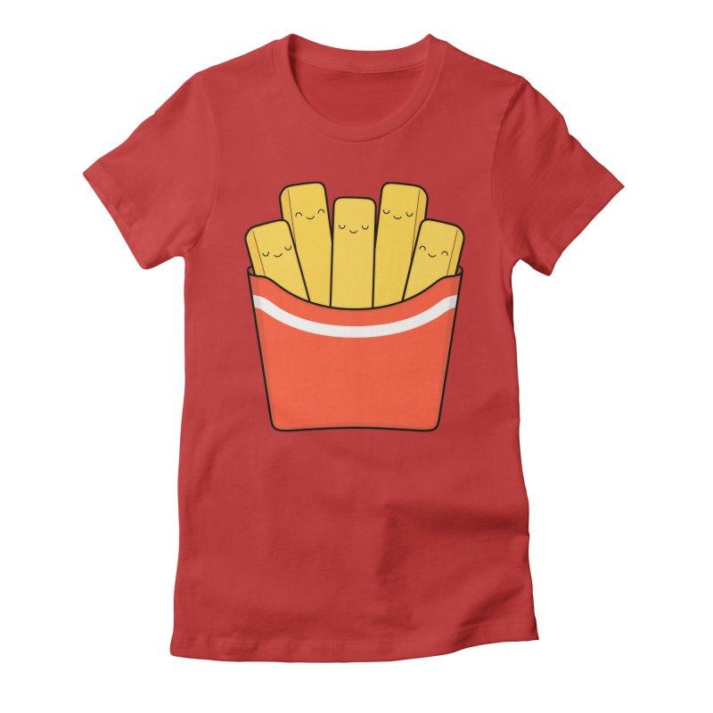 Best Fries Women's Fitted T-Shirt by Kim Vervuurt