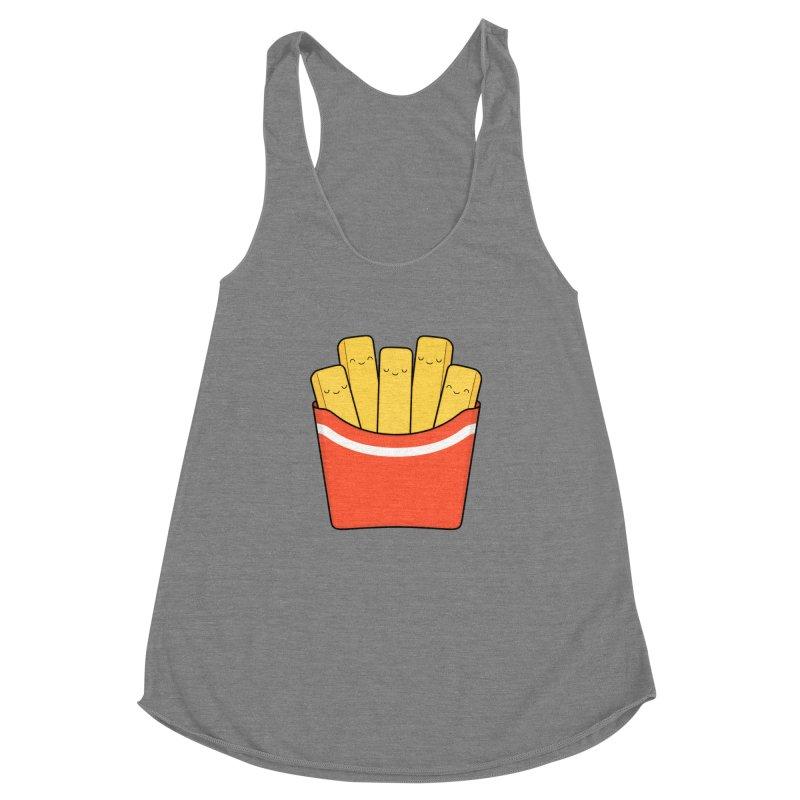 Best Fries Women's Racerback Triblend Tank by Kim Vervuurt