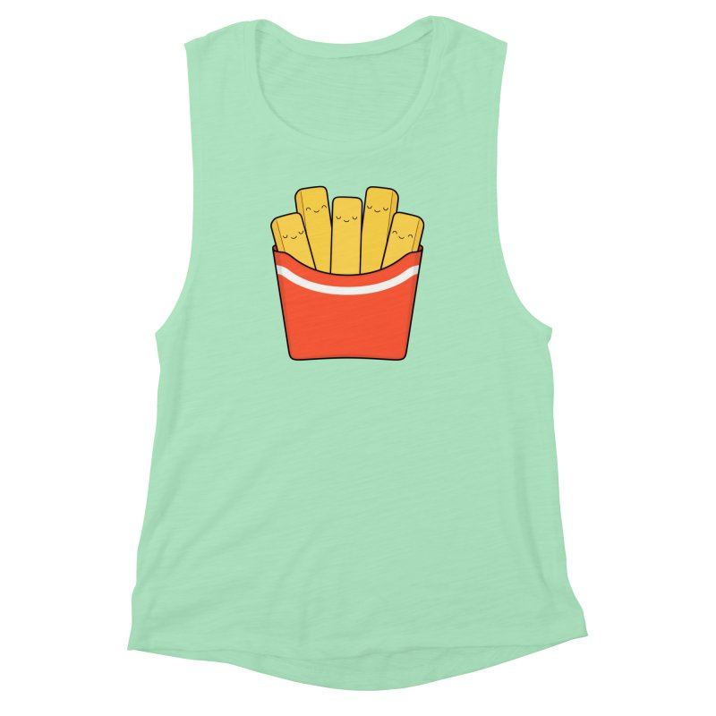 Best Fries Women's Muscle Tank by Kim Vervuurt