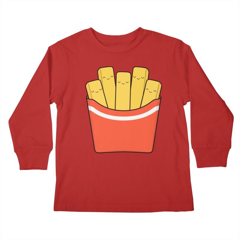 Best Fries Kids Longsleeve T-Shirt by Kim Vervuurt