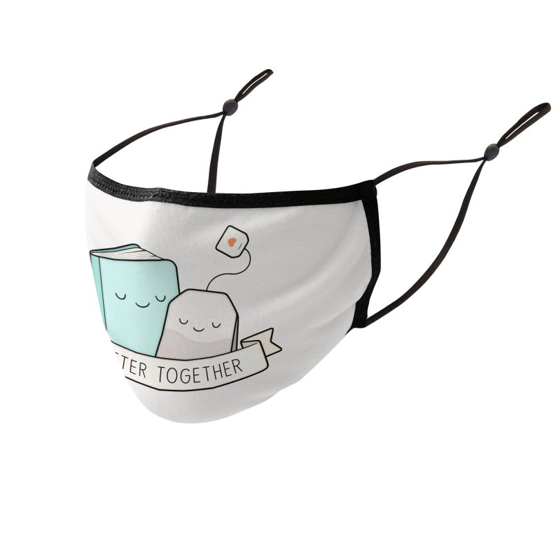 Books And Tea | Better Together Accessories Face Mask by Kim Vervuurt