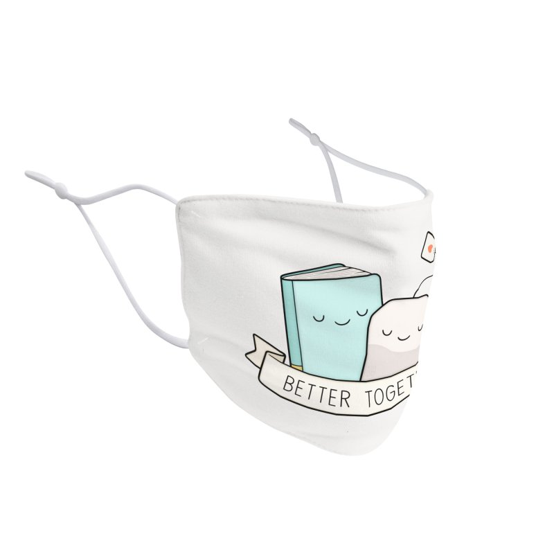 Books And Tea   Better Together Accessories Face Mask by Kim Vervuurt