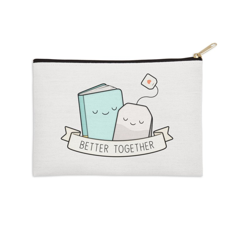 Books And Tea | Better Together Accessories Zip Pouch by Kim Vervuurt