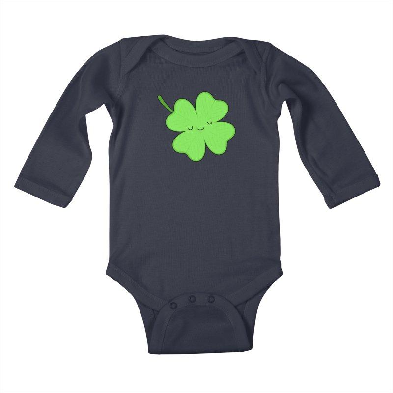 Lucky Clover Kids Baby Longsleeve Bodysuit by Kim Vervuurt