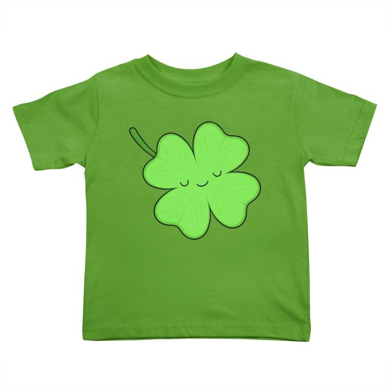 Lucky Clover Kids Toddler T-Shirt by Kim Vervuurt