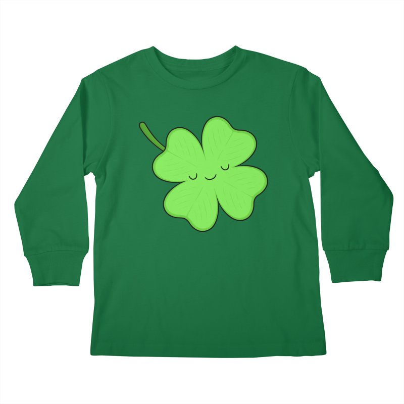 Lucky Clover Kids Longsleeve T-Shirt by Kim Vervuurt