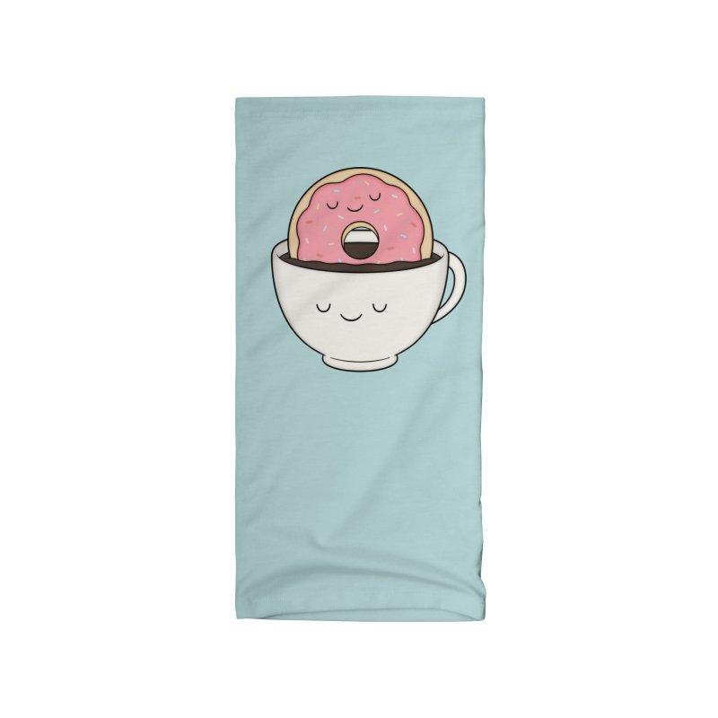 Coffee Loves Donut Accessories Neck Gaiter by Kim Vervuurt