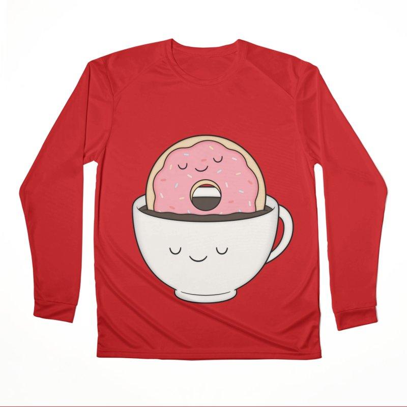 Coffee Loves Donut Men's Longsleeve T-Shirt by Kim Vervuurt