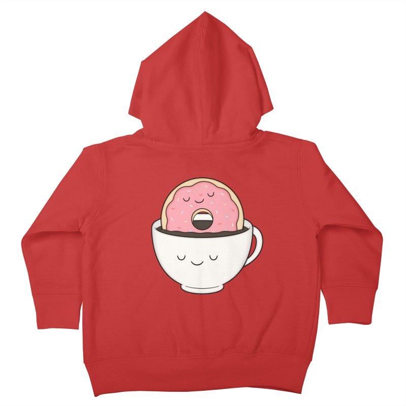 Coffee Loves Donut Kids Toddler Zip-Up Hoody by Kim Vervuurt