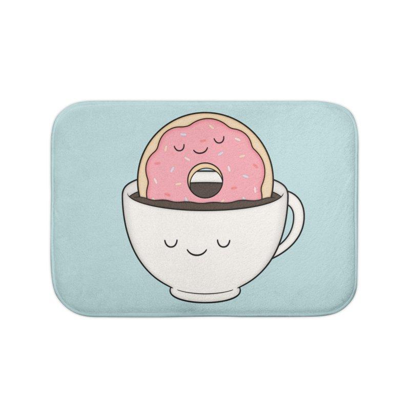 Coffee Loves Donut Home Bath Mat by Kim Vervuurt