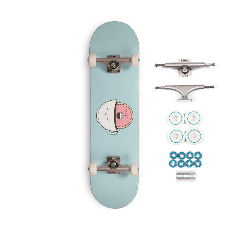 Coffee Loves Donut Accessories Skateboard by Kim Vervuurt
