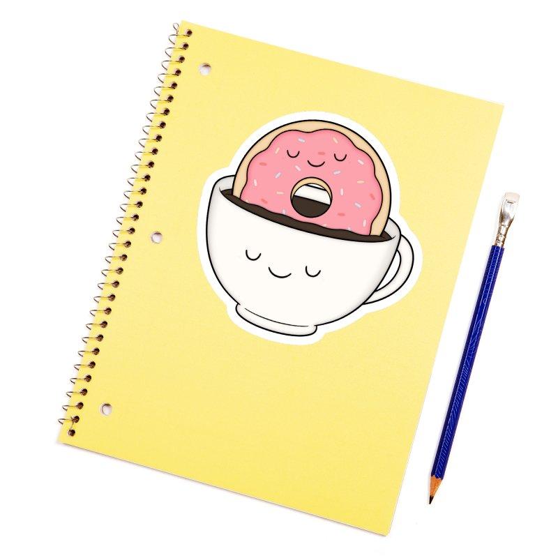 Coffee Loves Donut Accessories Sticker by Kim Vervuurt