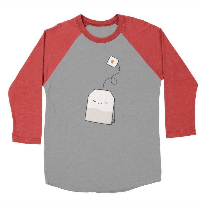Tea Time Women's Baseball Triblend Longsleeve T-Shirt by Kim Vervuurt