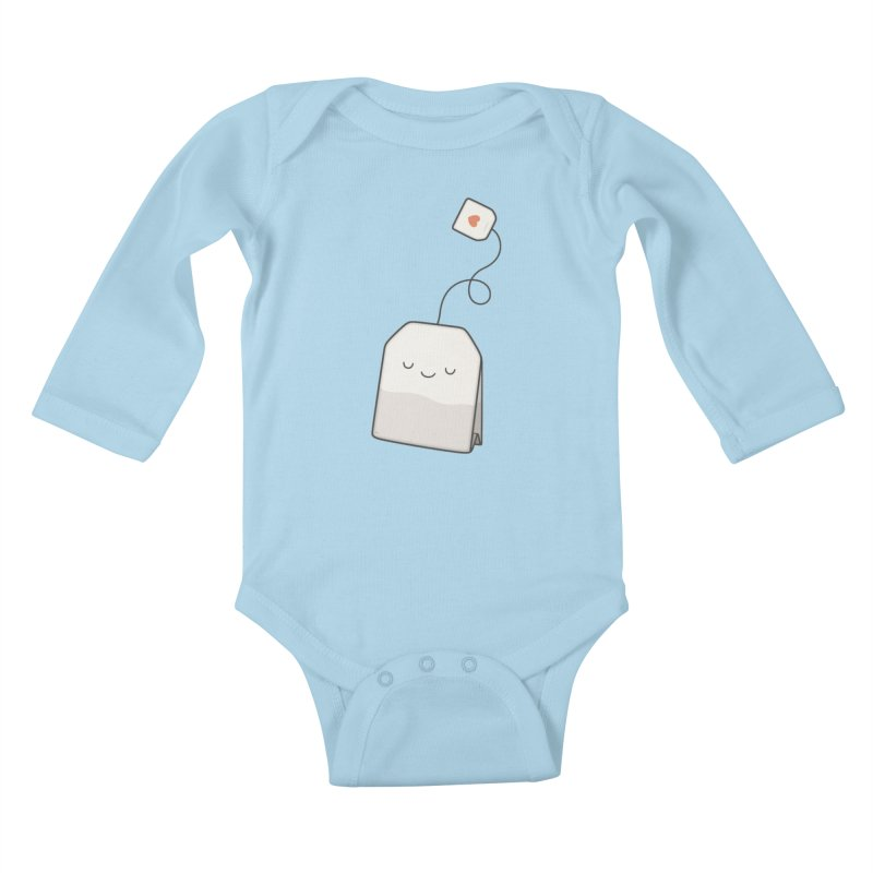 Tea Time Kids Baby Longsleeve Bodysuit by Kim Vervuurt