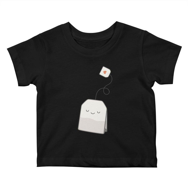 Tea Time Kids Baby T-Shirt by Kim Vervuurt