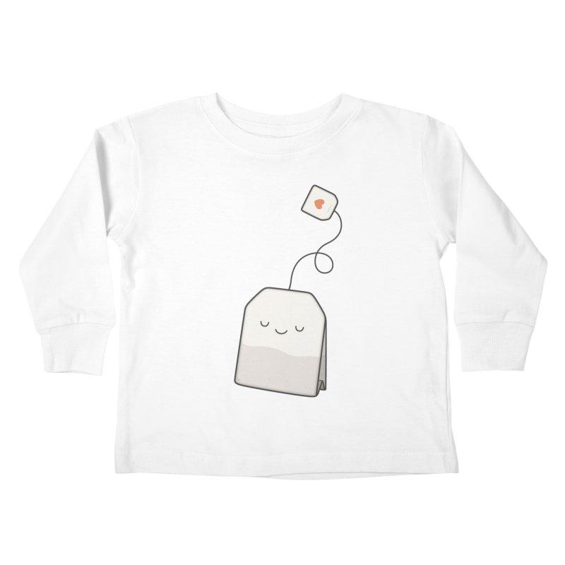 Tea Time Kids Toddler Longsleeve T-Shirt by Kim Vervuurt