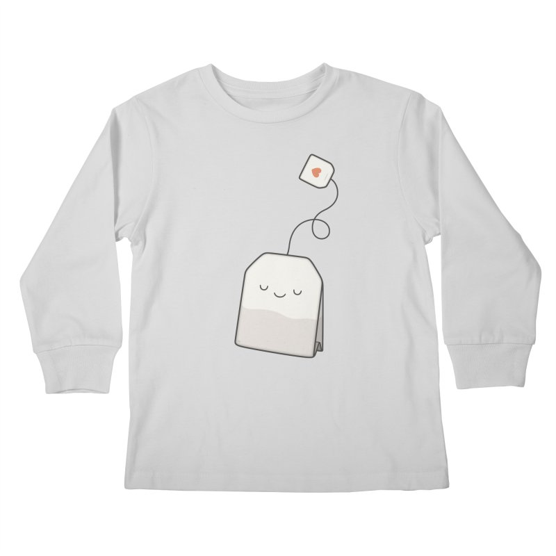 Tea Time Kids Longsleeve T-Shirt by Kim Vervuurt