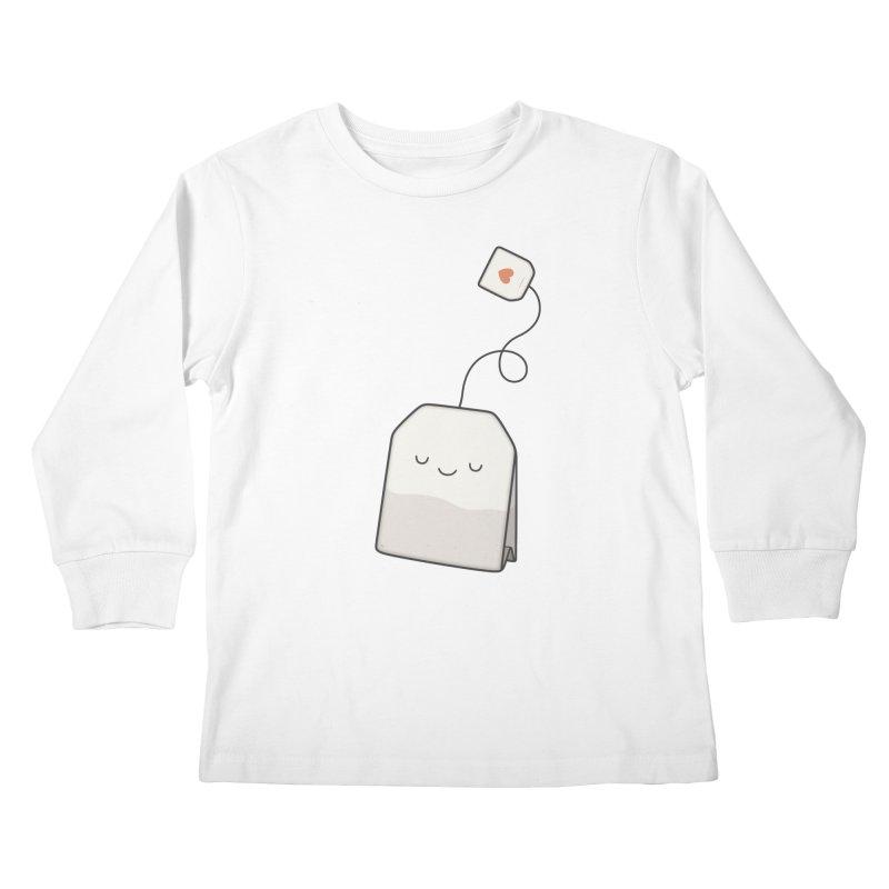 Tea Time Kids Longsleeve T-Shirt by Kim Vervuurt