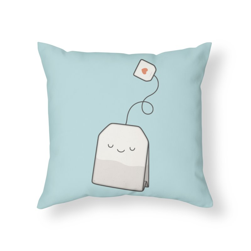 Tea Time Home Throw Pillow by Kim Vervuurt