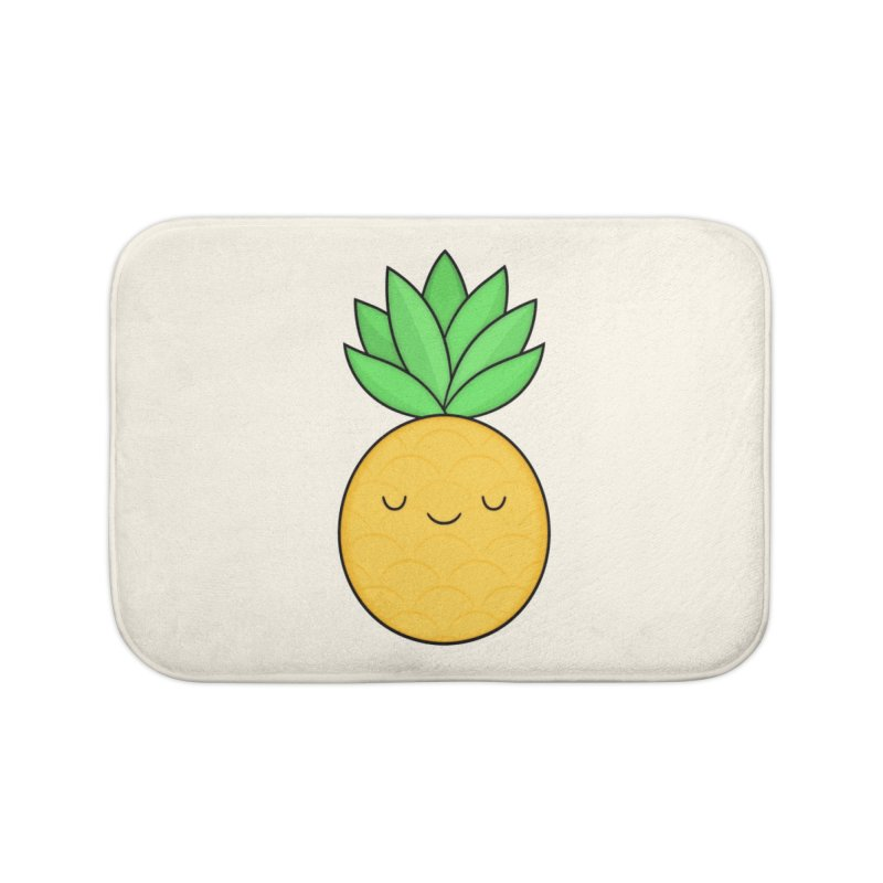 Happy Pineapple Home Bath Mat by Kim Vervuurt
