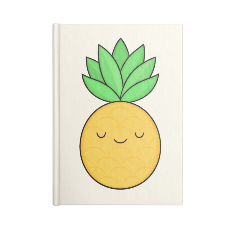 Happy Pineapple Accessories Blank Journal Notebook by Kim Vervuurt