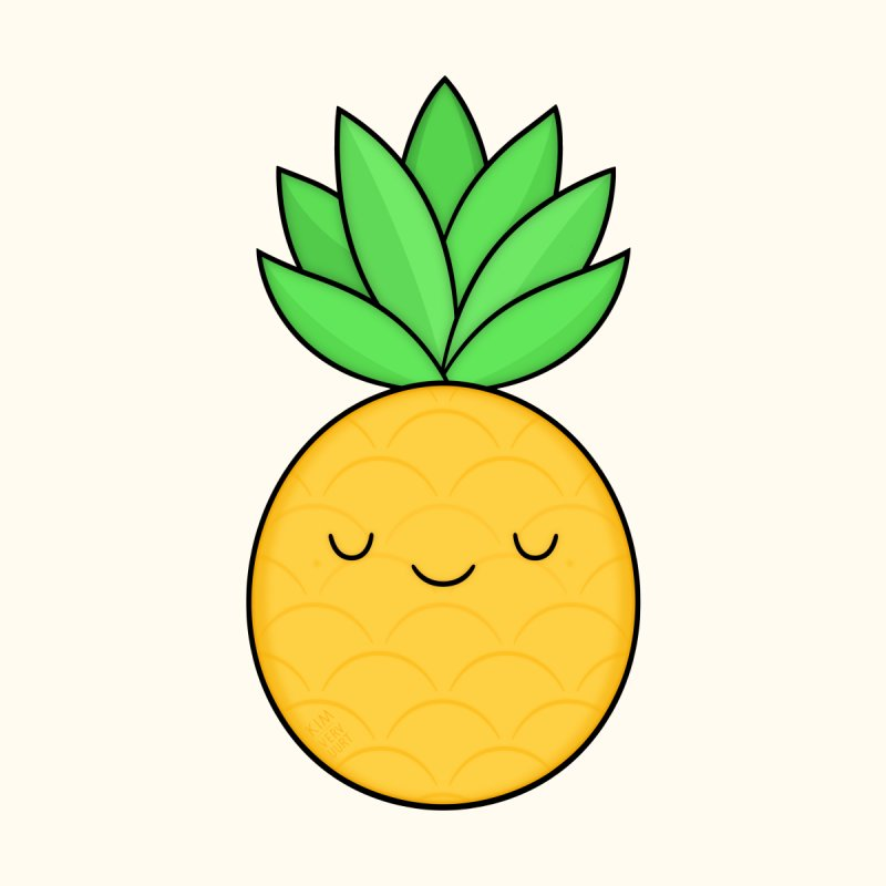 Happy Pineapple Men's T-Shirt by Kim Vervuurt