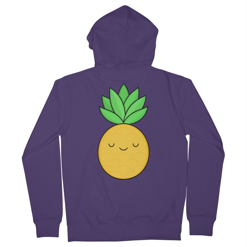 Happy Pineapple Women's Zip-Up Hoody by Kim Vervuurt