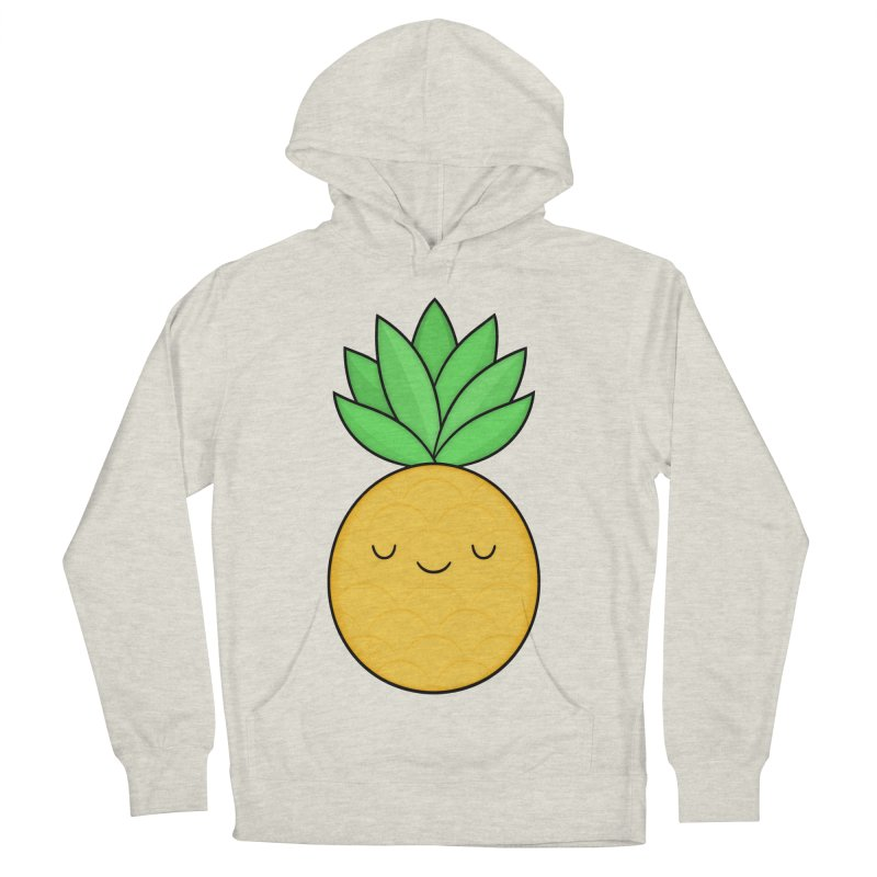 Happy Pineapple Men's Pullover Hoody by Kim Vervuurt