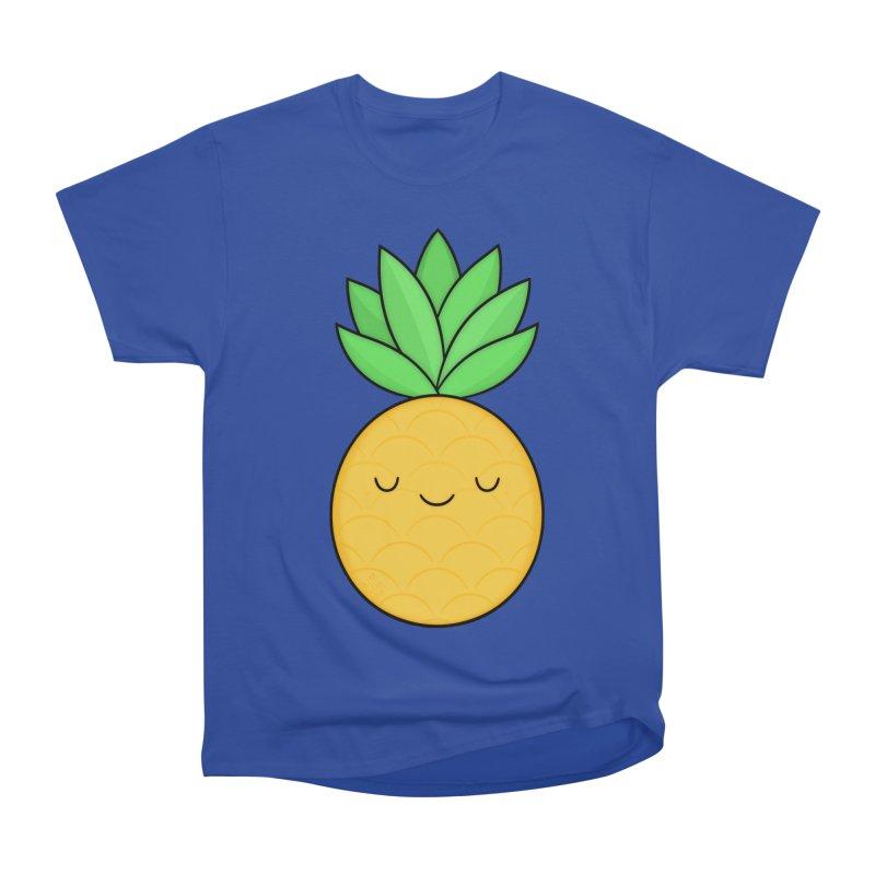 Happy Pineapple Women's Classic Unisex T-Shirt by Kim Vervuurt