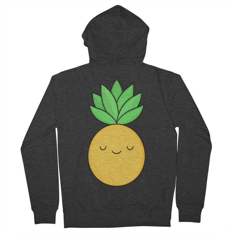 Happy Pineapple Women's French Terry Zip-Up Hoody by Kim Vervuurt