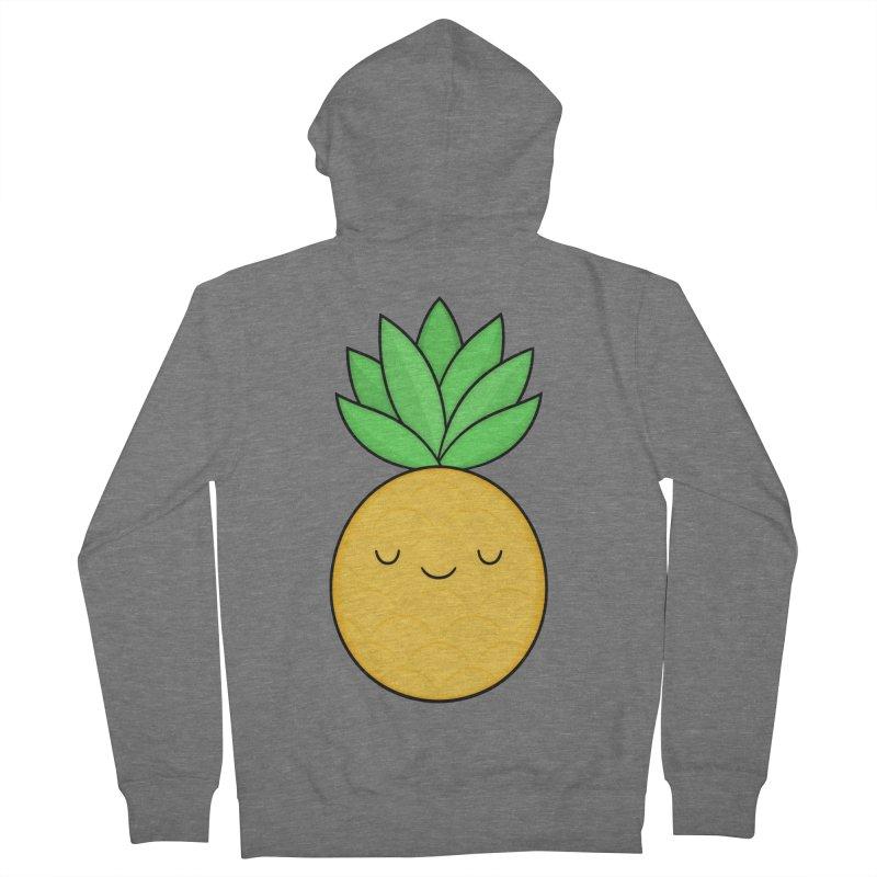 Happy Pineapple Women's Zip-Up Hoody by Kim Vervuurt
