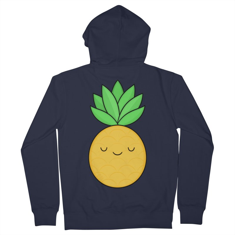 Happy Pineapple Women's French Terry Zip-Up Hoody by Kim Vervuurt