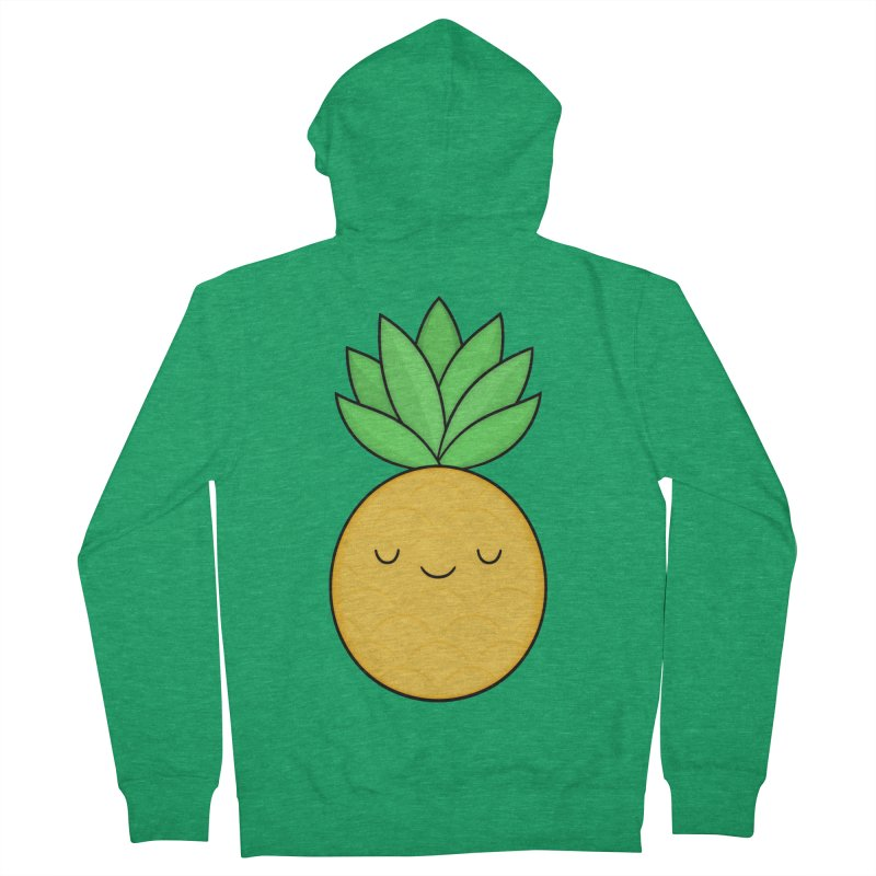 Happy Pineapple Men's Zip-Up Hoody by Kim Vervuurt