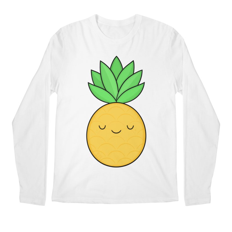 Happy Pineapple Men's Longsleeve T-Shirt by Kim Vervuurt