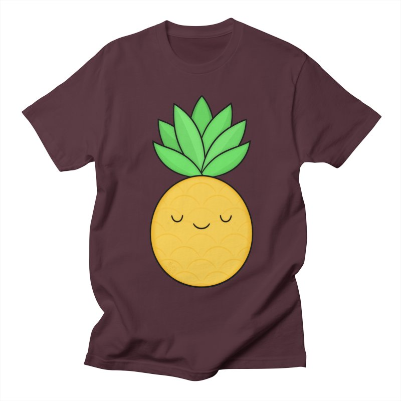 Happy Pineapple Men's Regular T-Shirt by Kim Vervuurt