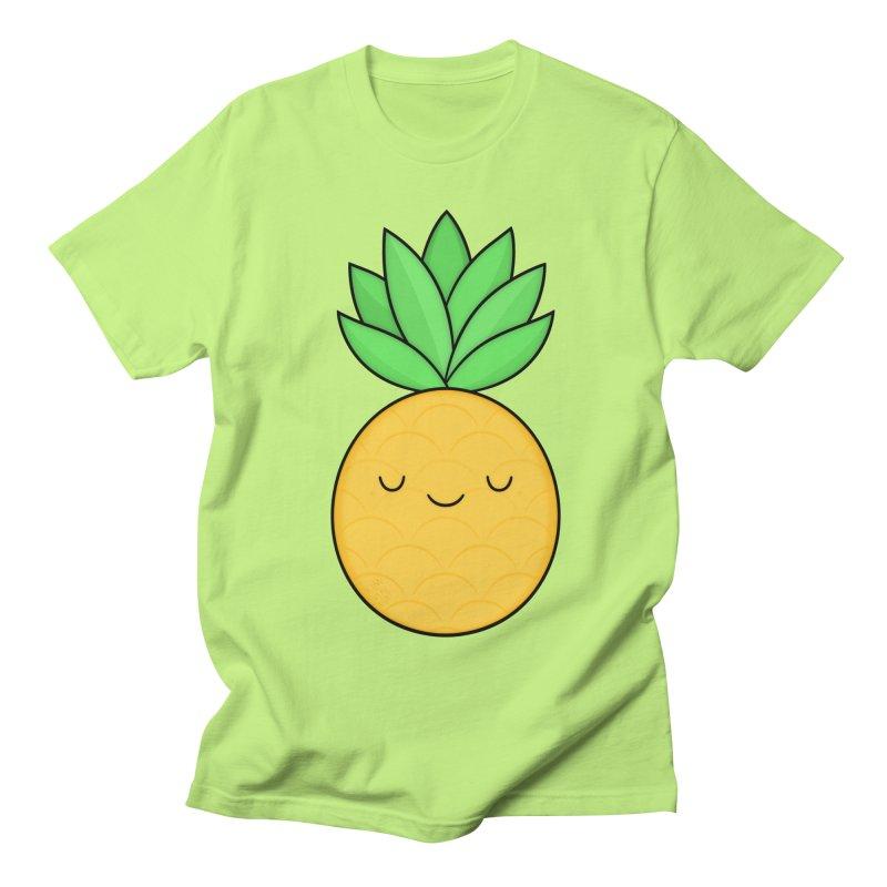 Happy Pineapple Women's Unisex T-Shirt by Kim Vervuurt