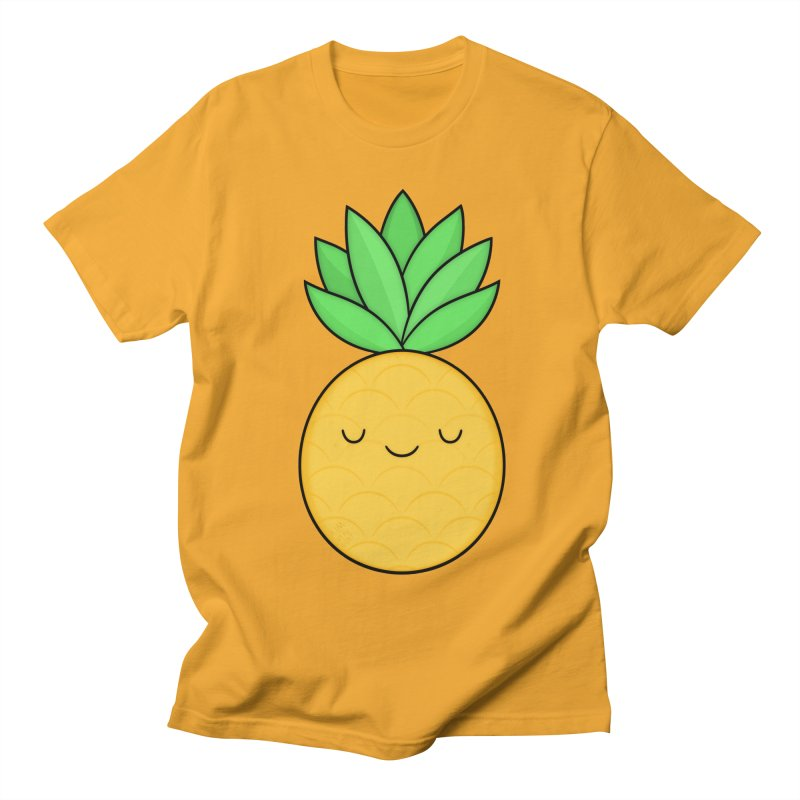 Happy Pineapple Men's Regular T-Shirt by Kim Vervuurt