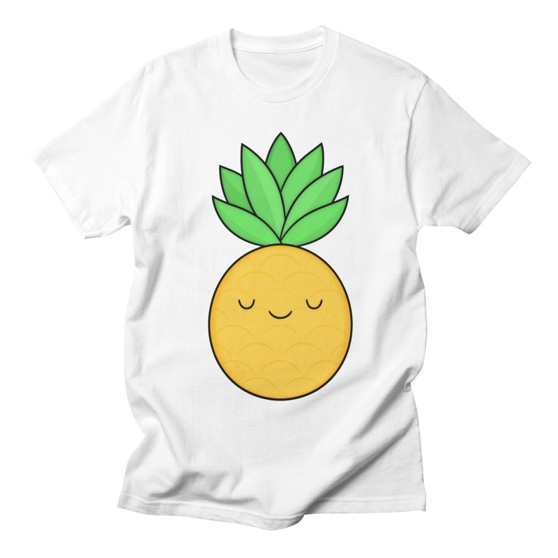 Happy Pineapple Women's Unisex T-Shirt by Kim Vervuurt