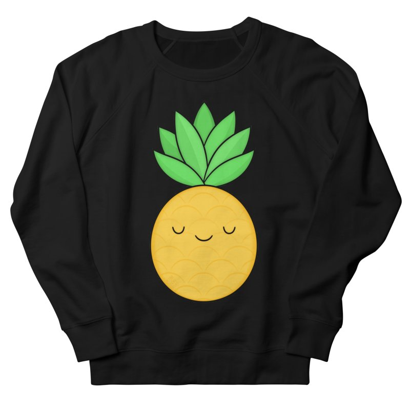 Happy Pineapple Women's French Terry Sweatshirt by Kim Vervuurt