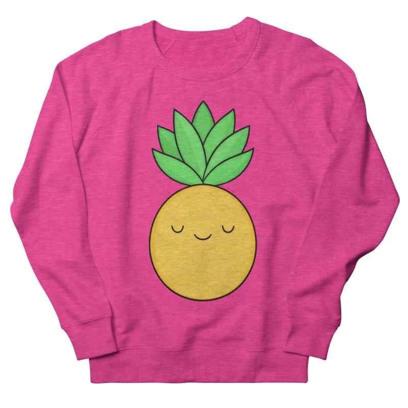 Happy Pineapple Men's French Terry Sweatshirt by Kim Vervuurt