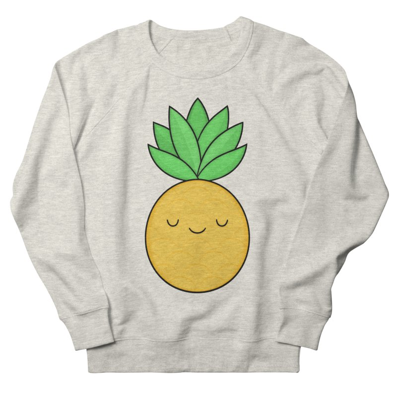 Happy Pineapple Men's French Terry Sweatshirt by Kim Vervuurt