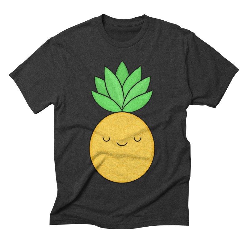 Happy Pineapple Men's Triblend T-Shirt by Kim Vervuurt