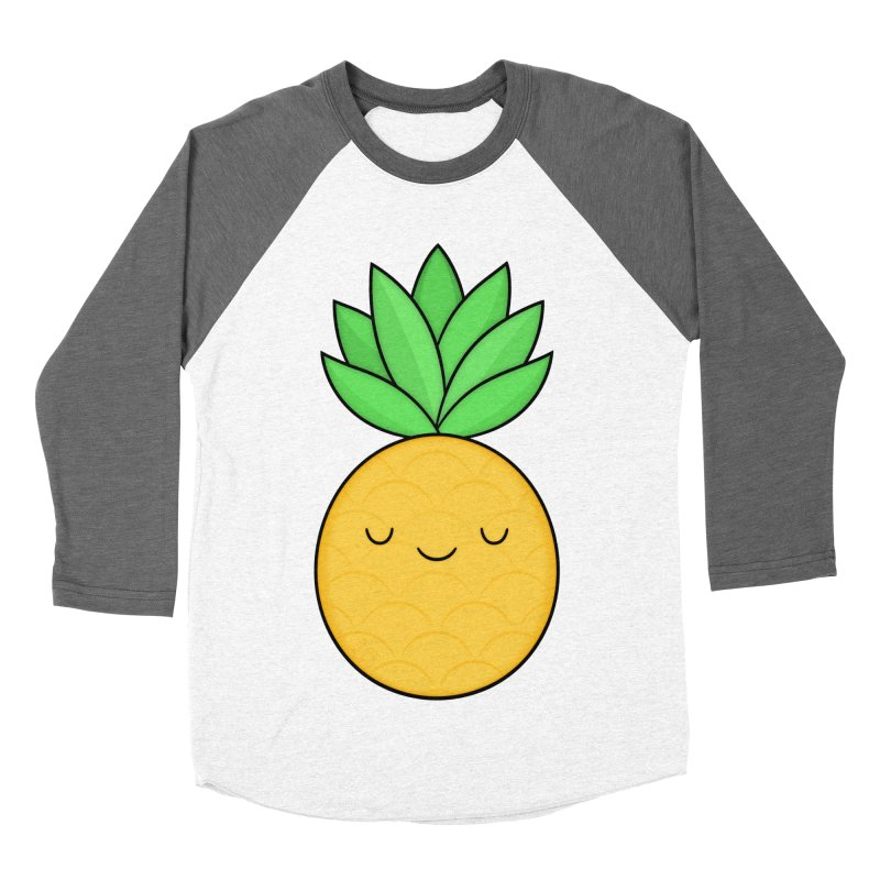 Happy Pineapple Women's Longsleeve T-Shirt by Kim Vervuurt